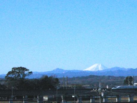 今日は仕事場から見える富士山がきれいでした